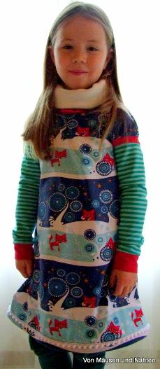 Amelie Winterkleid farbenmix Schnitt
