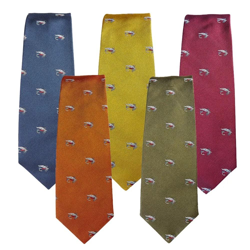 Farlows Salmon Fly Silk Tie