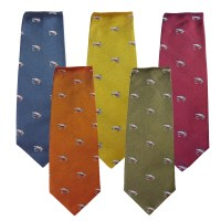 Farlows Salmon Fly Silk Tie | Farlows