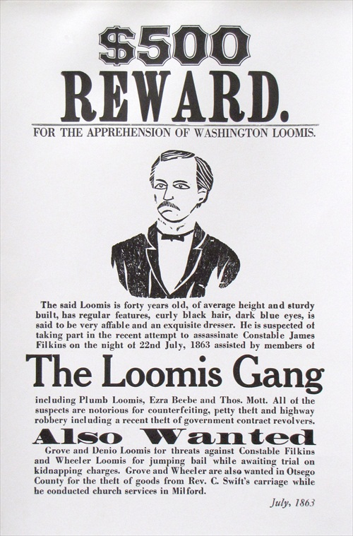 The Loomis Gang- Wanted Poster The Farmers\u0027 Museum