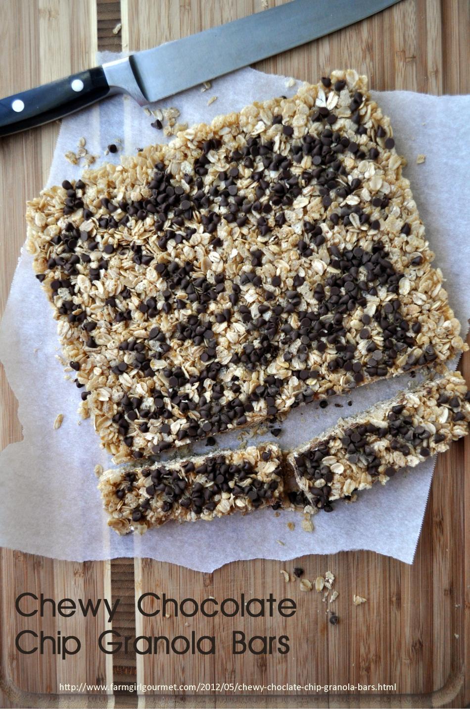 Chewy Chocolate Chip Granola Bars 2