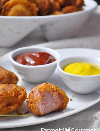 Mini Turkey Corndogs with Smoky Ketchup