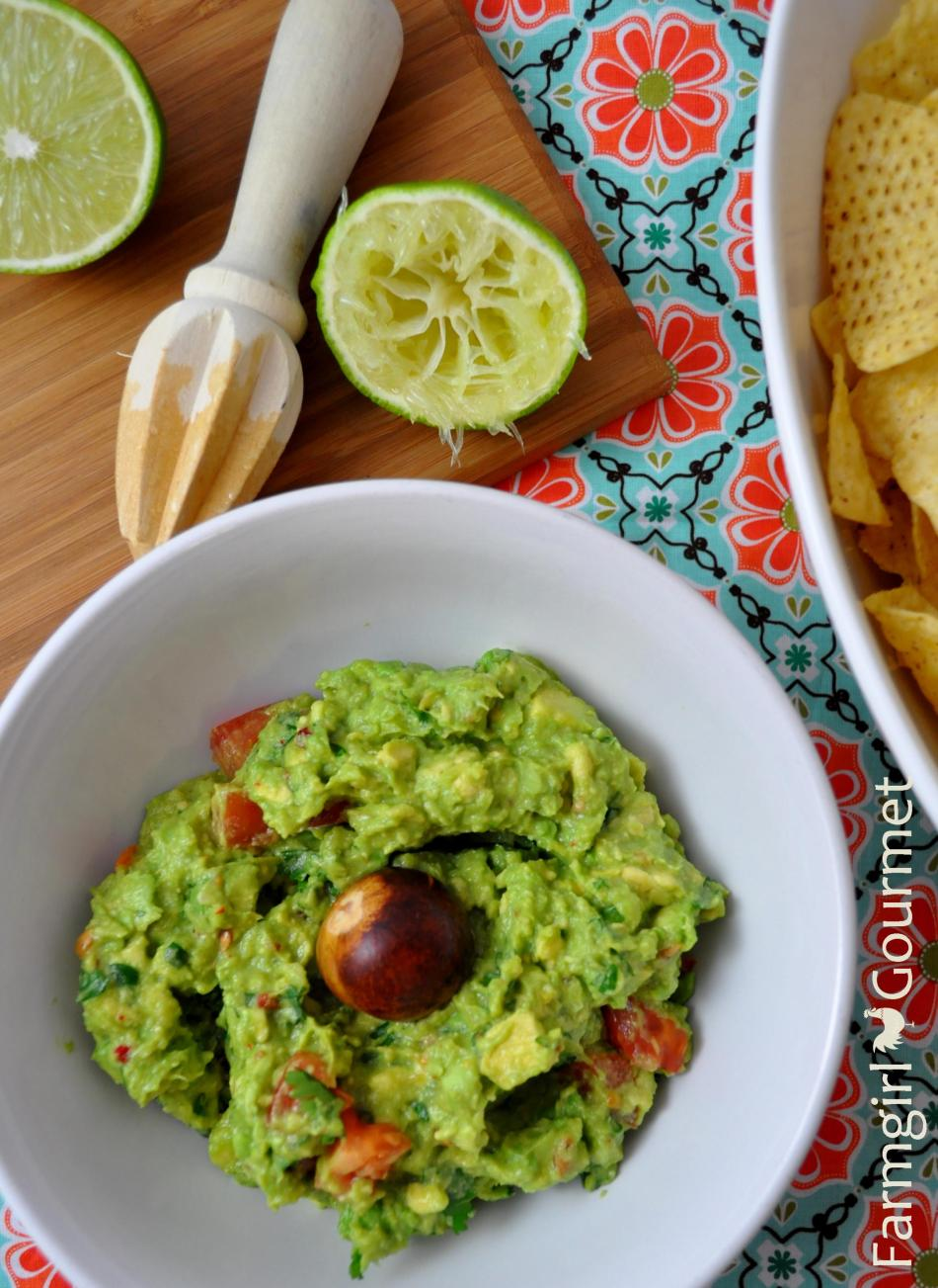 Simply Delicious Guacamole via Farmgirlgourmet