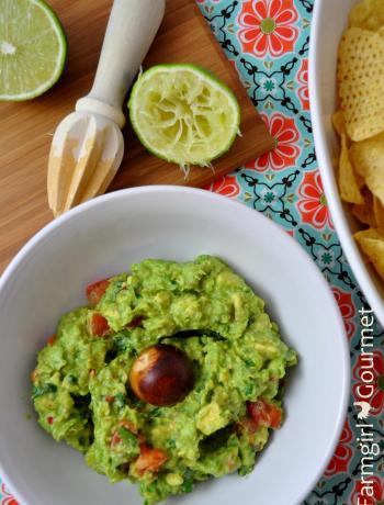 Simply Delicious Guacamole via Farmgirlgourmet