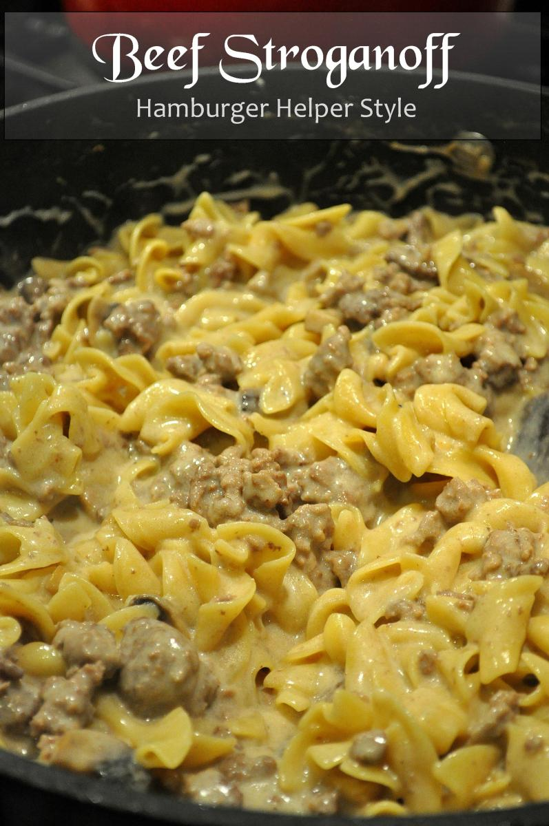 Beef Stroganoff - Hamburger Helper Style