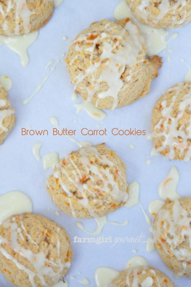 Brown Butter Carrot Cookies | farmgirlgourmet.com