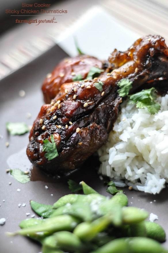 Sticky Chicken Drumsticks – Slow Cooker