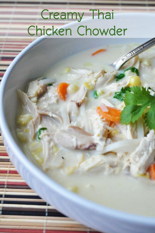 Creamy Thai Chicken Chowder   farmgirlgourmet.com