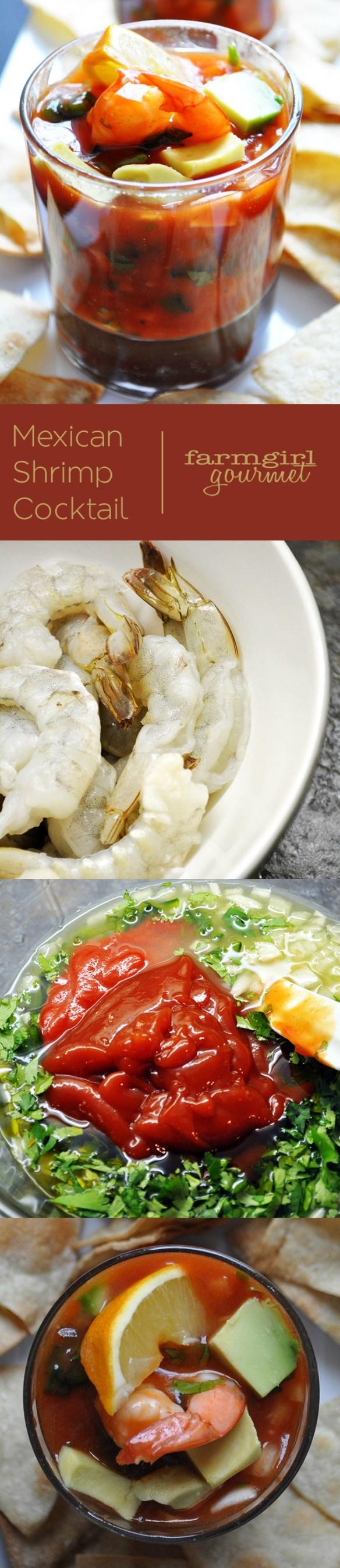 Mexican Shrimp Cocktail | farmgirlgourmet.com #recipe #shrimp