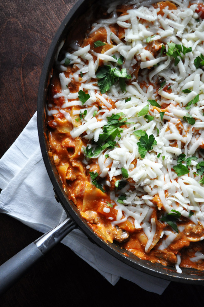 Easy Cheesy Skillet Lasagna