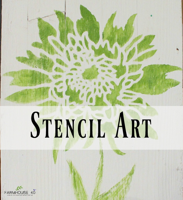 Stencil Art Wood Board - FARMHOUSE 40