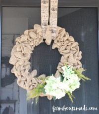 How To Make A Burlap Wreath - Farmhouse Made