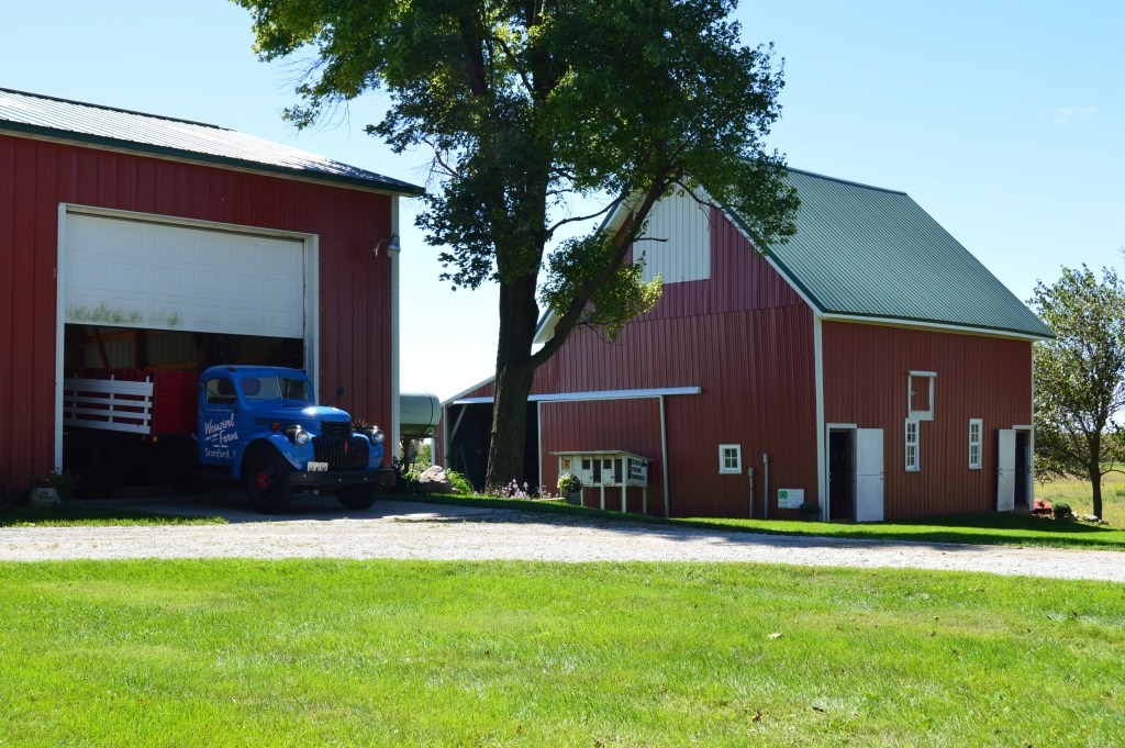 red barn on family farm experience