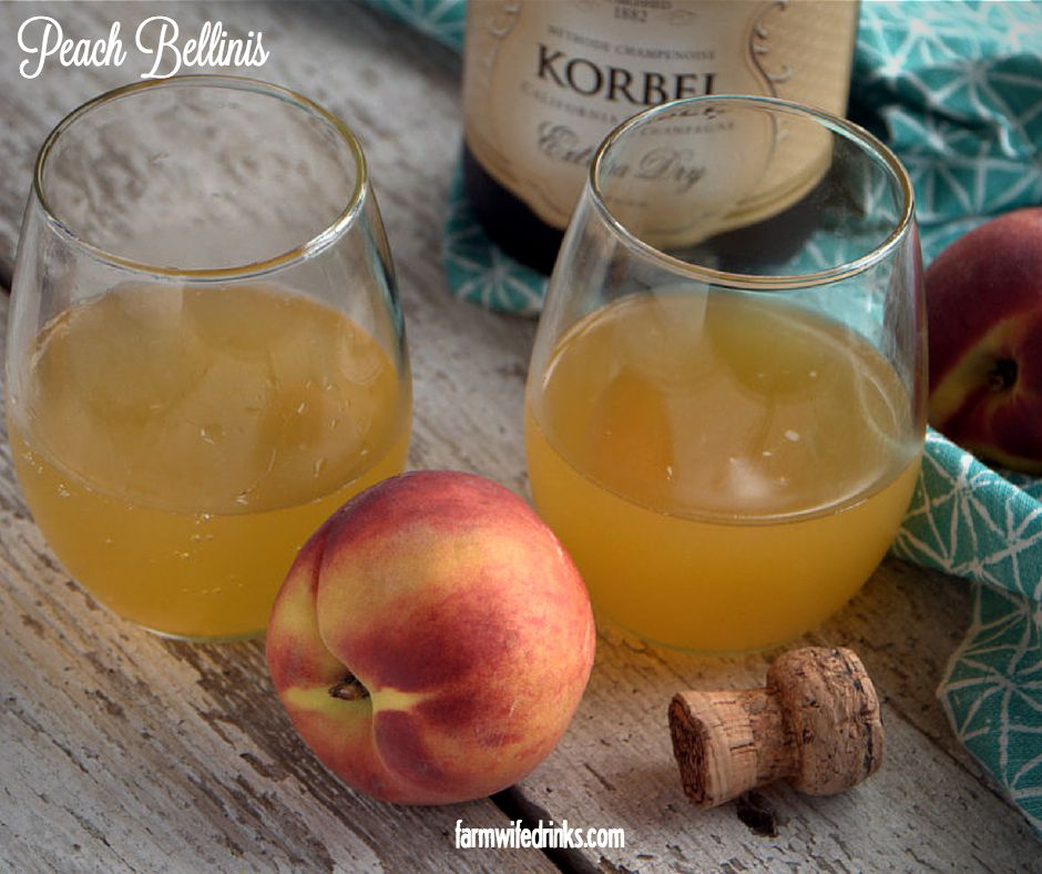 how to make a peach bellini with peach schnapps
