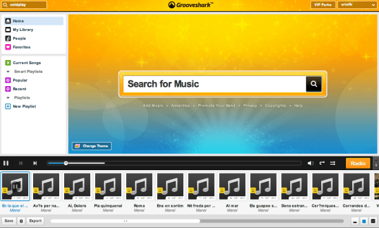 grooveshark 650x391 Grooveshark, una bona alternativa a Spotify