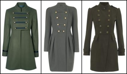 Womens Military Coats Review Fashion Winter 2010 11