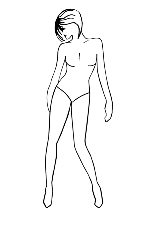 Elegant Pose Fashion Drawing Templates - Free Fashion-Templates 2 - blank fashion design templates