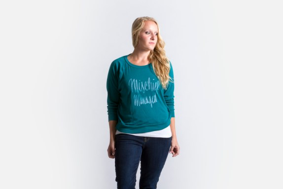 Mischief+Managed+Sweatshirt+-+Teal+-+Jordandene