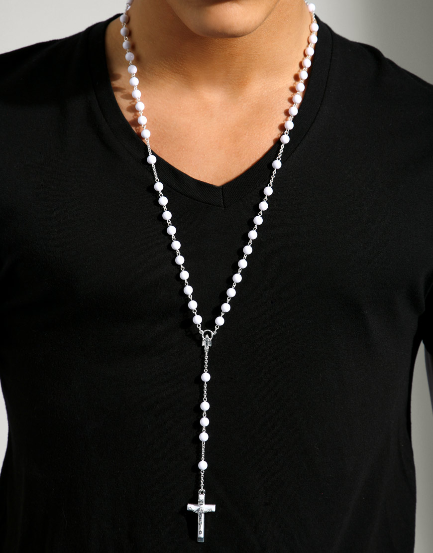Fashion Rosary Necklace For Men Fashion Belief