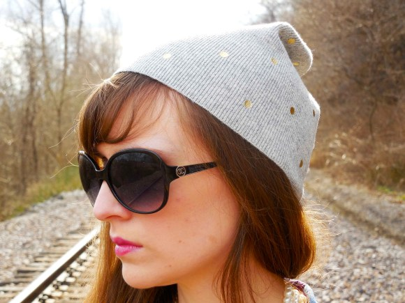 Emily from Fashion By Committee- Old Navy beanie