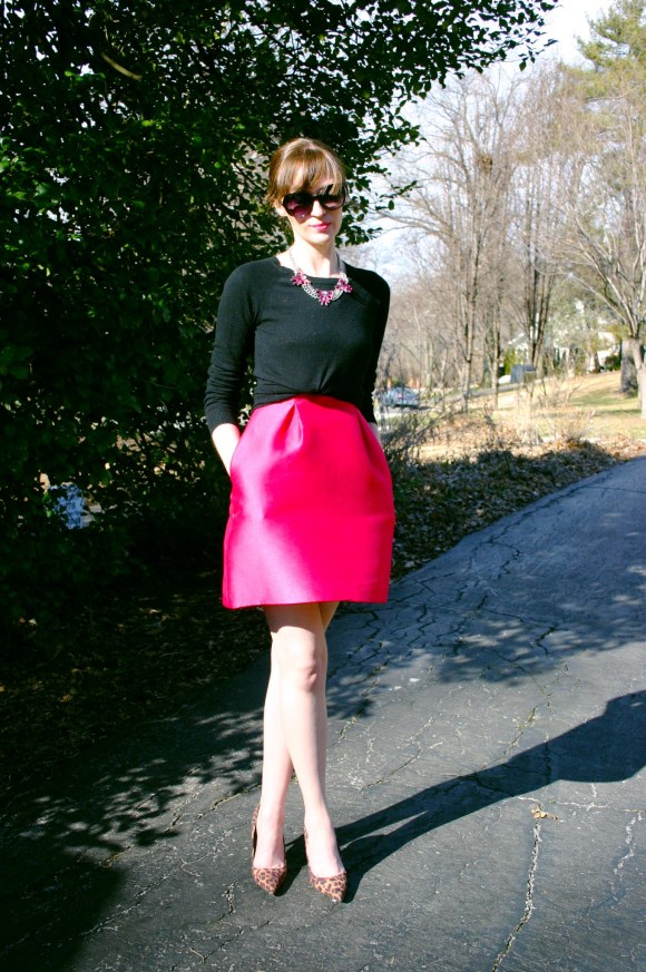 Emily from Fashion By Committee- Kate Spade dress, Target sweater, shoes, and necklace