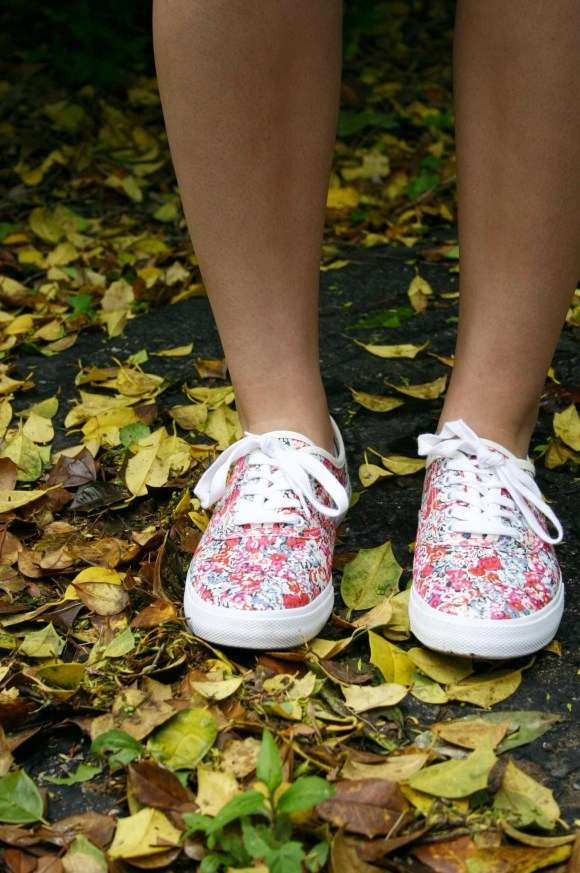 Jeanne from Fashion By Committee- floral print Target sneakers