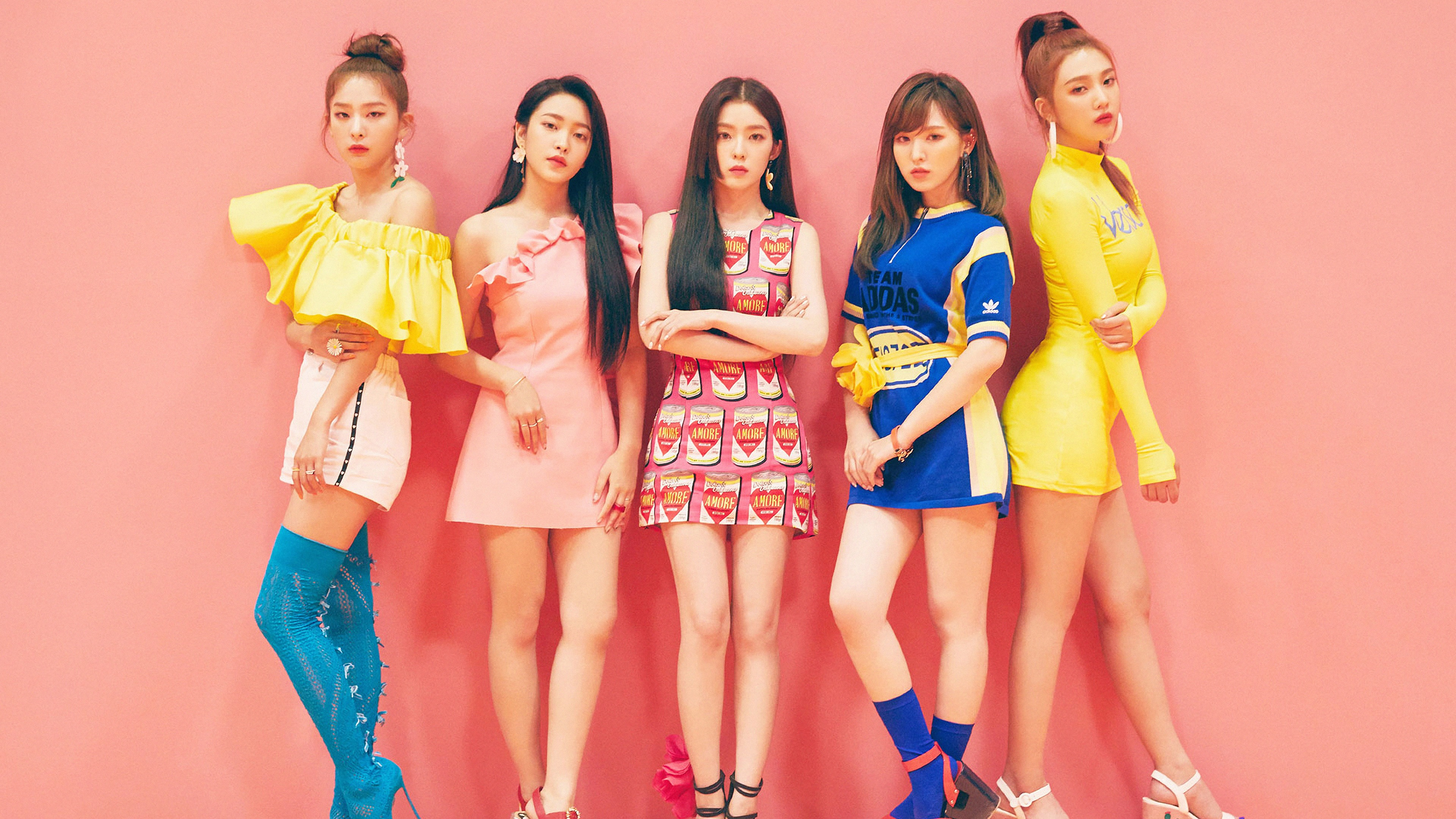 Sweet Girl Boy Love Wallpaper Get Red Velvet Power Up Wendy And Irene Outfits