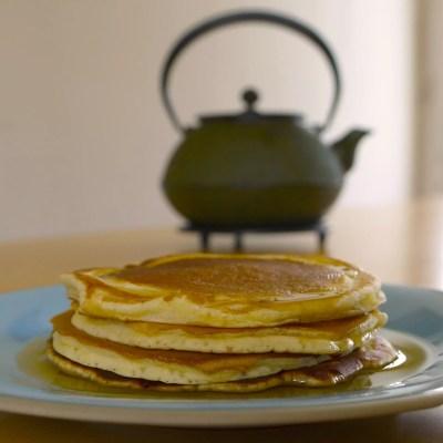 Œufs cocotte au saumon & Pancakes
