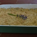 Crumble de courgettes au chèvre et à la lavande