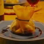 Ballotins de foie gras de canard aux pommes chaudes