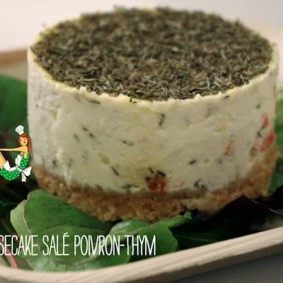Cheesecake salé poivron-thym