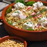 Salade de quinoa-lentilles, radis et  chèvre