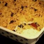 Gratin de polenta à la borgia