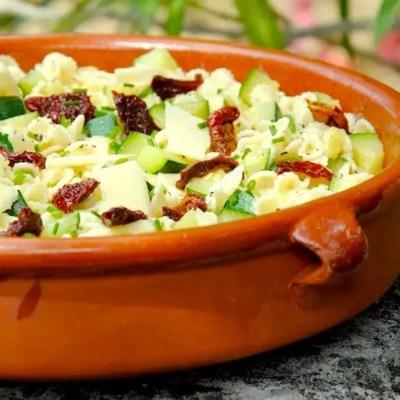 Salade de pâtes courgettes-citron