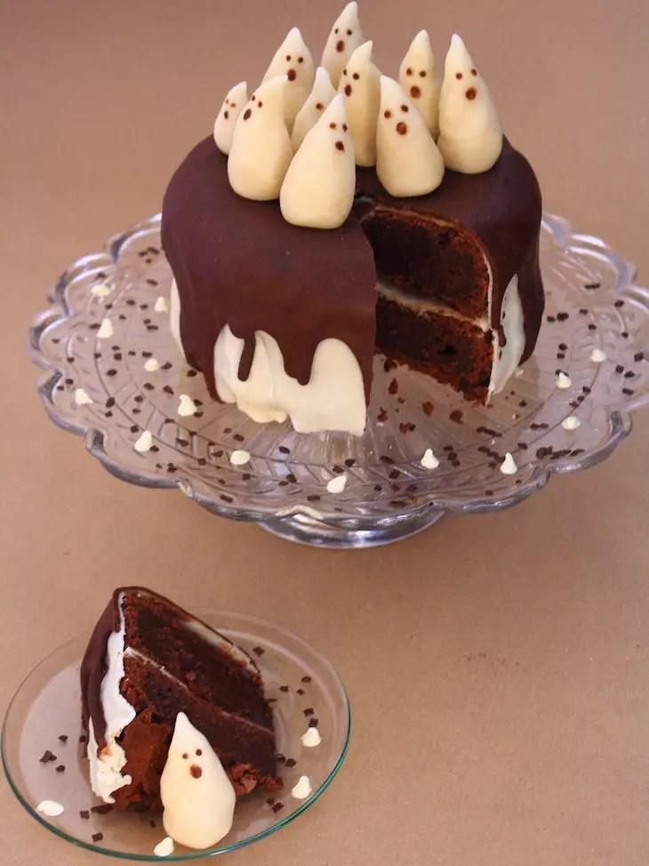 G teau fant me chocolat p te d 39 amande - Recette dessert halloween ...