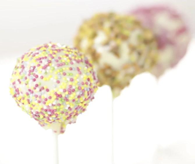 cake pops decoration chocolat blanc pistache