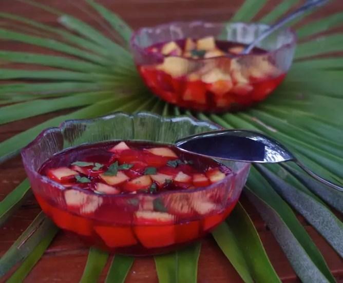 nectarine sirop hibiscus street cuisine