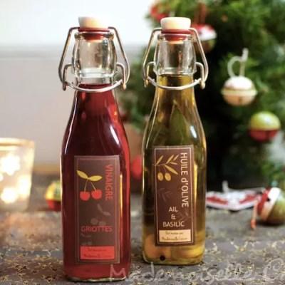 Huile d'olive et vinaigre parfumés maison