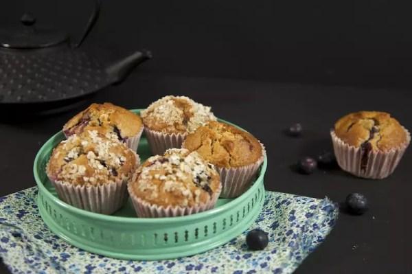muffins blueberry macadamia chocolat blanc