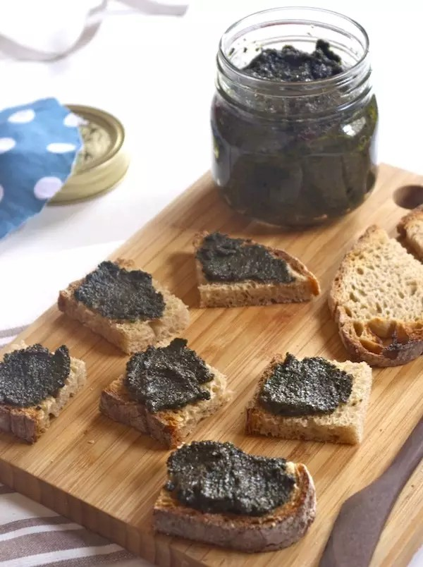 tartinade olives noires cresson