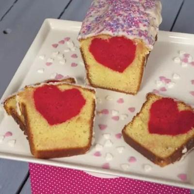 Cake cœur caché vanille-huile d'olive