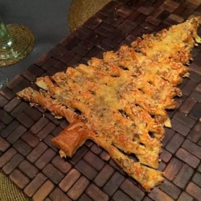 Feuilletés au fromage en forme de sapin