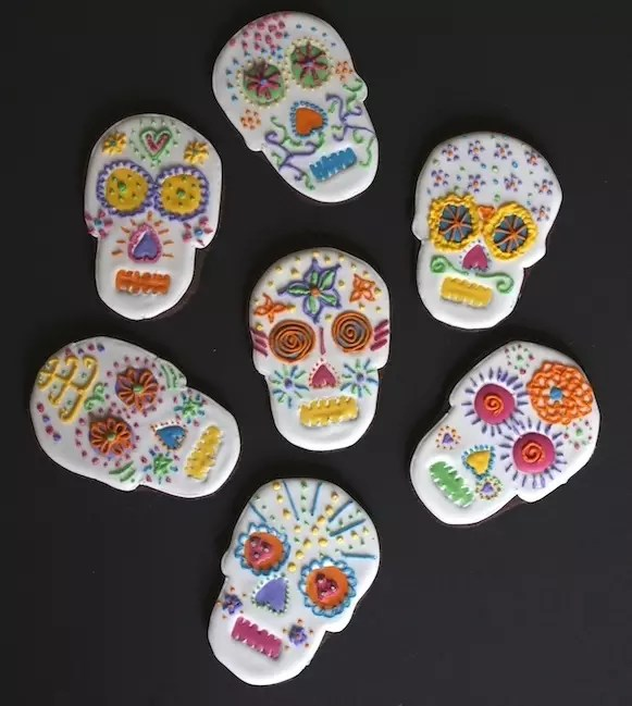 Biscuits Decores Chocolat on sables dia de los muertos