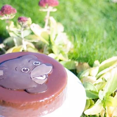 Gâteau Petit ours brun (en window color)