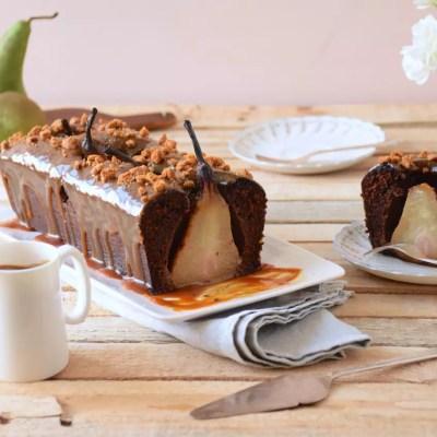 Automnal – Cake chocolat – poires entières