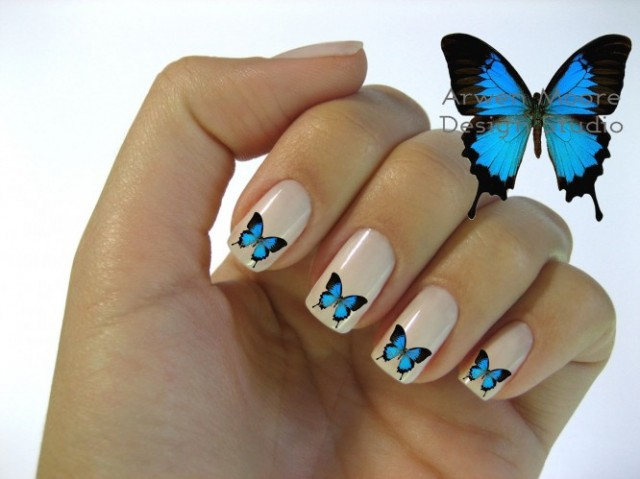 Cute Cheer Wallpapers 16 Butterfly Nail Designs