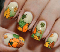 15 Fall Leaves Nail Designs