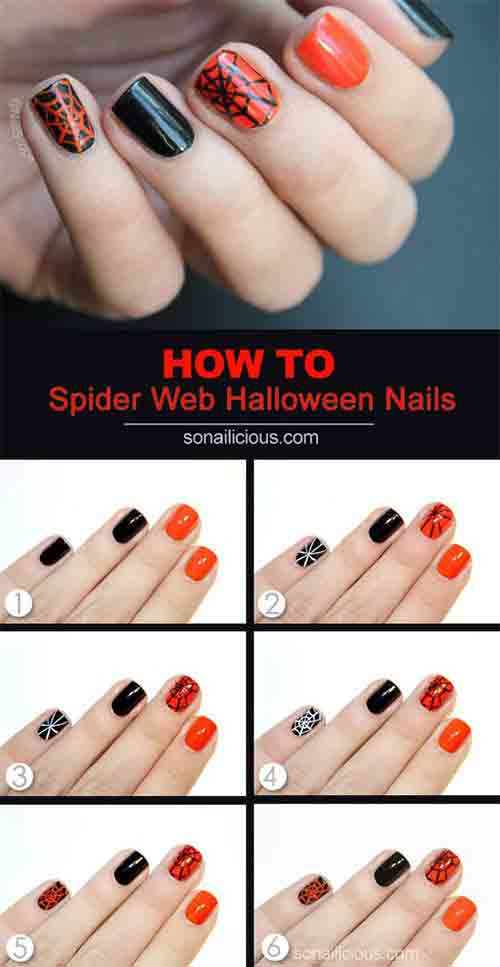 easy-halloween-nail-art-tutorials-12 \u2013 FashionEven