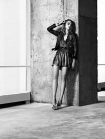 Saint Laurent Resort 2014 Collection Taps Sasha Pivovarova