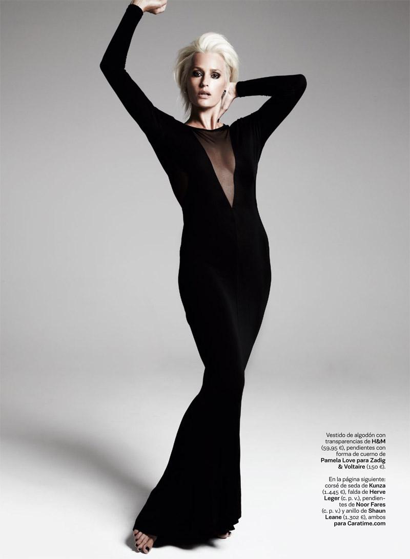 yasmin le bon shows off platinum blonde look for s moda spread